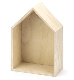 Houten huisje 24x16cm