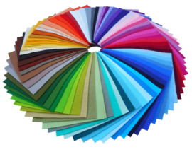 Wolvilt pakket 20x30 alle kleuren effen + gemêleerd.
