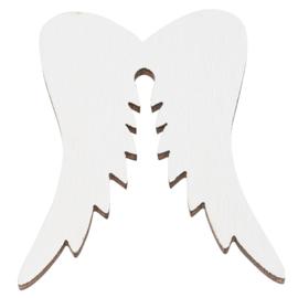 Houten vleugels wit 3st 5cm.