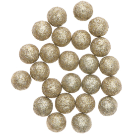 Glitterballetjes goud 24st