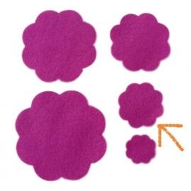 Vilten bloem 3,8 cm