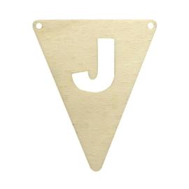 Houten vlag J