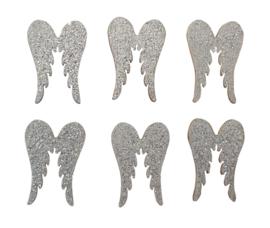 Vleugeltjes zilver 6st 27mm