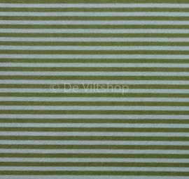 Vilt met streepjes olijfgroen