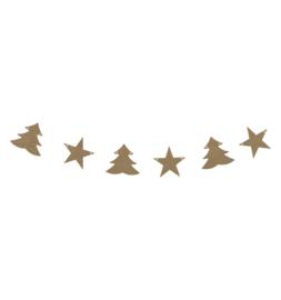 MDF slinger kerstbomen en sterren