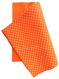 Vilt met stippen oranje