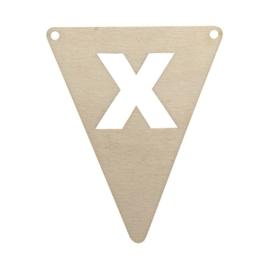 Houten vlag  X