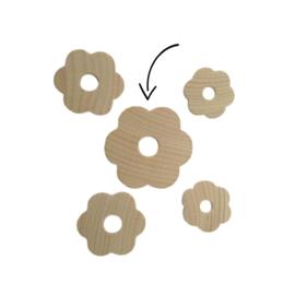 houten bloem 50mm