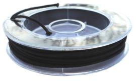 Elastisch kralenkoord 1 mm zwart
