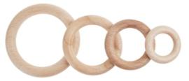 Houten ring 3,5mm 50 stuks