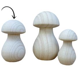 Houten paddenstoel 50x28mm