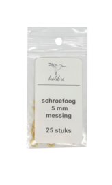 Schroefoogjes 5mm messing 25st