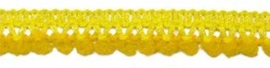 Mini pompomband geel