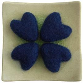 Hartje donkerblauw
