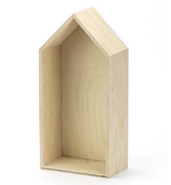 Houten huisje 14x29,50cm