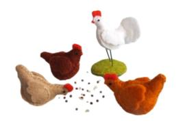Drie kippen en een haan Pippilotta