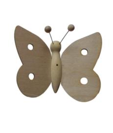 Houten vlinder klein