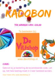 Kadobon €10,00