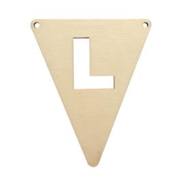 Houten vlag L