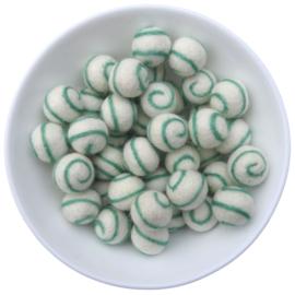 Viltballetje Swirl mint