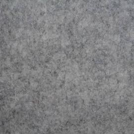 3 mm dik wolvilt grijsmêlee 45 x 39cm