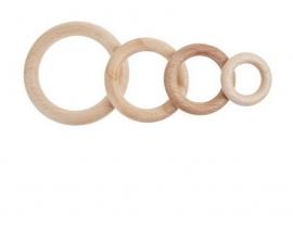 Blank houten ringen