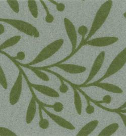Vilt met olijftakjes groen