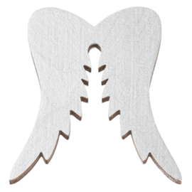 Houten vleugels zilver 3st 5cm
