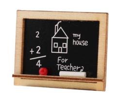 Miniatuur schoolbord