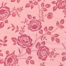 Vilt met rozenprint