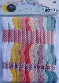 Budget borduurgaren 24 zachte kleuren