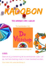 Kadobon €20,00