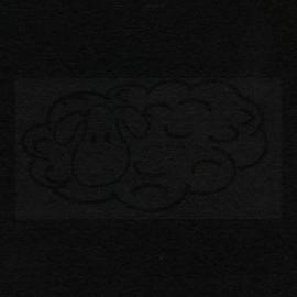 Knutselvilt zwart