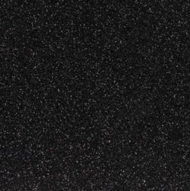 Glittervilt zwart