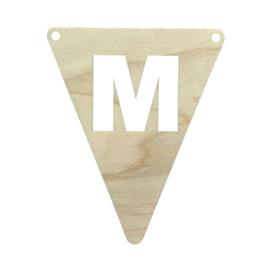 Houten vlag M