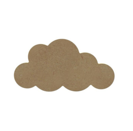 Mdf figuur wolk 10cm