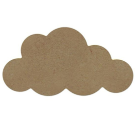 Mdf figuur wolk 15cm