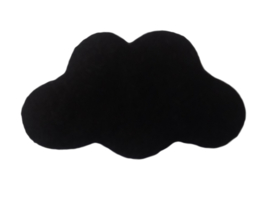 Handgevilten wolk Zwart