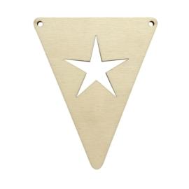 Houten vlag Ster