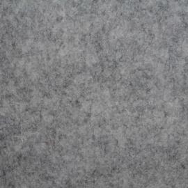 3mm Dik wolvilt grijsmêlee 45x50cm