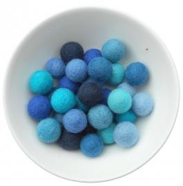 balletjes 2cm blauwtinten 20 stuks