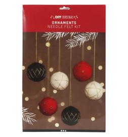 DIY pakket kerstballen naaldvilten