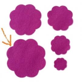 Vilten bloem 7,7 cm