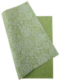 Vilt met kantprint groen