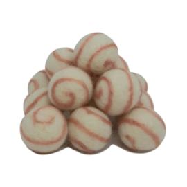 Viltballetje Swirl Roze