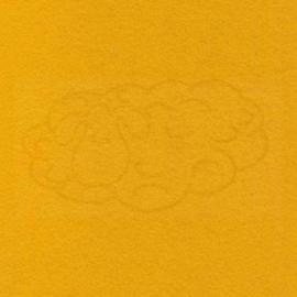 3mm Dik wolvilt geel 45x50cm