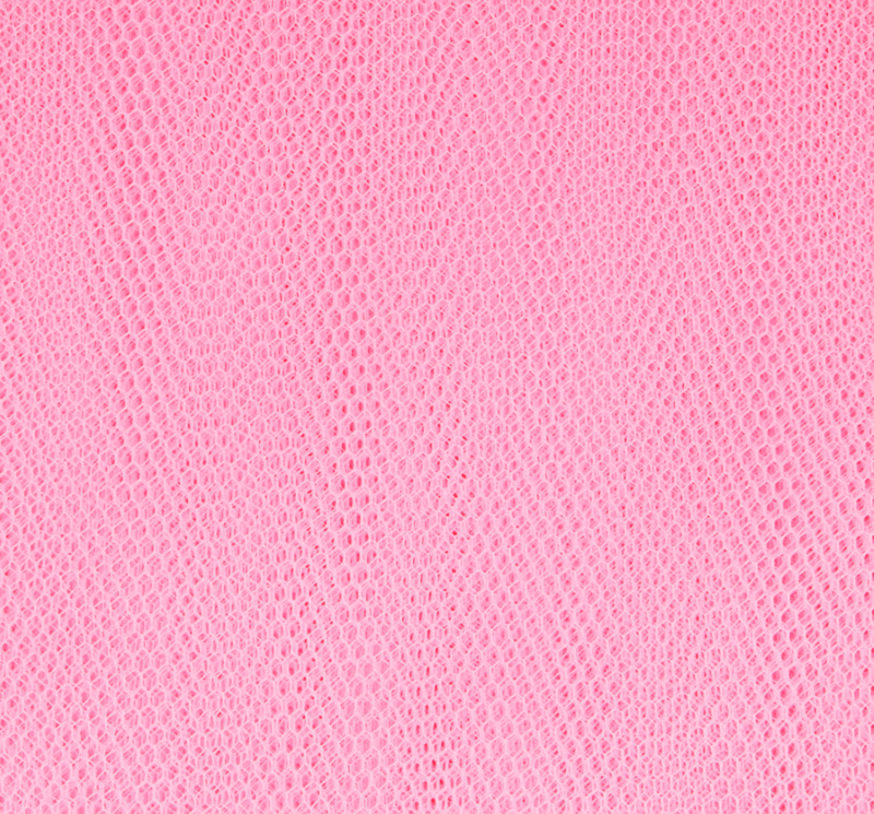 Tule roze 145cm breed