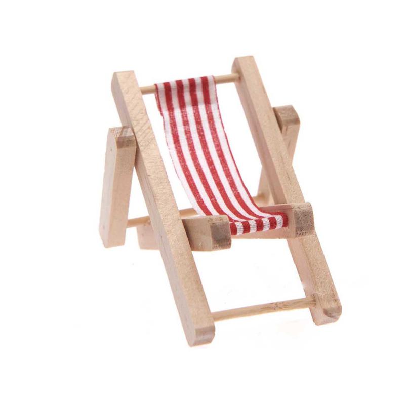 Deckchair/strandstoel 5,5x8cm