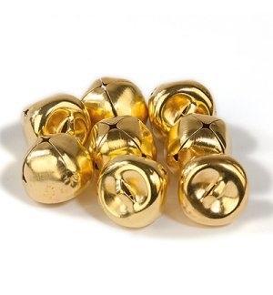 Belletjes goud 15mm 8 stuks
