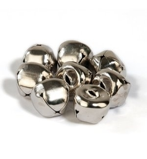 Belletjes zilver 15mm 8 stuks